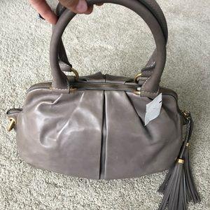 Jcrew Gray Italian Leather Jamie Bag